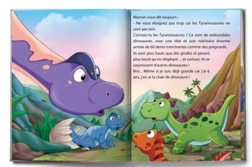livre enfant extrait sur les dinosaures