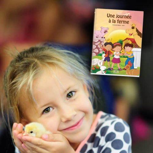 livre à personnaliser fillette et poussin