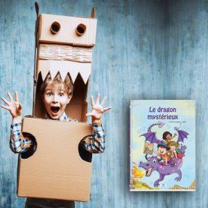 livre personnalisé pour enfant sur les dragons et fillette déguisée