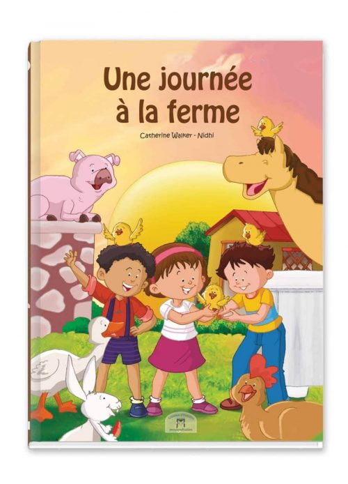 couverture recto livre enfant thème de la ferme