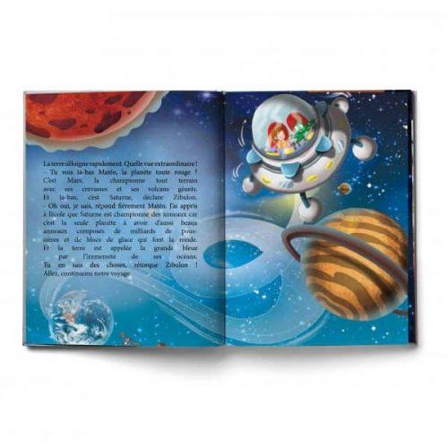 livre personnalisable extrait voyage étoiles