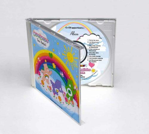 boitier CD coloré Bisounours en 3D