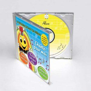 boitier CD coloré de chansons enfants en 3D
