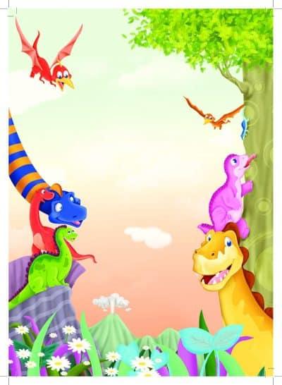 illustrations pour enfants sur le thème des dinosaures