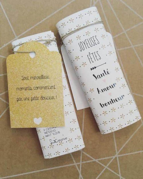 mini tablette de chocolat avec votre message sur mesure pour les fêtes
