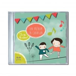 cdrom chansons pour enfants personnalisées à leur prénom