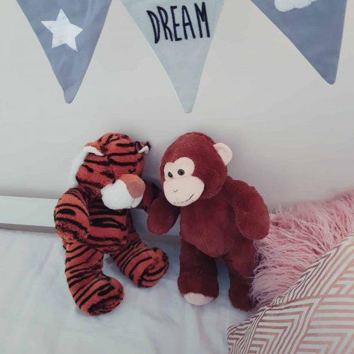 peluche tigre et singe
