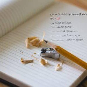 Messages personnels sur papier