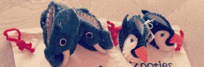 """chausson """"animal"""" fait main en laine pour bébé Héros de ses histoires"""