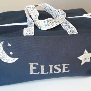 sac bleu au prénom élise