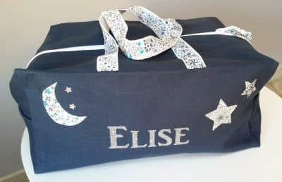 sac bleu prenom elise