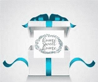 boite cadeau Home sweet home à offrir pour une naissance
