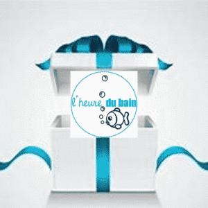 boite cadeau pour une naissance sur le thème l'heure du bain