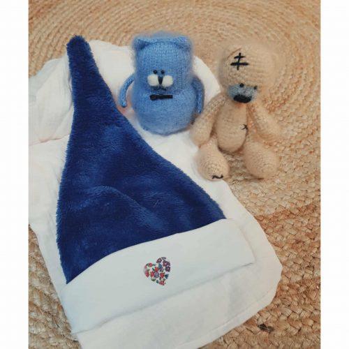 bonnet bébé bleu à son prénom