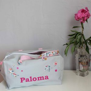 sac prenom paloma blanc et rose