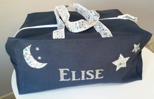 sac bleu prénom Elise
