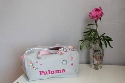 sac prenomn paloma blanc et rose