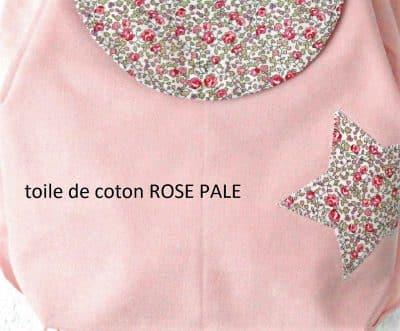 toile de coton rose pale et liberty rose
