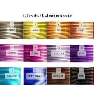 coloris de fil aluminium