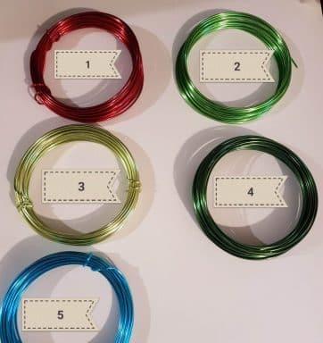 fils aluminium différents coloris