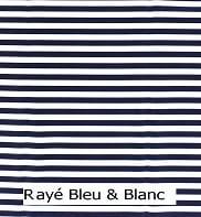 rayé blanc bleu