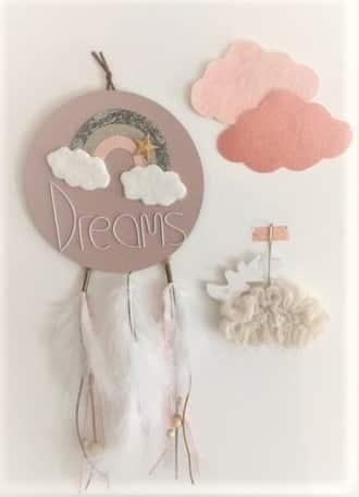ARC EN CIEL sur attrape rêve