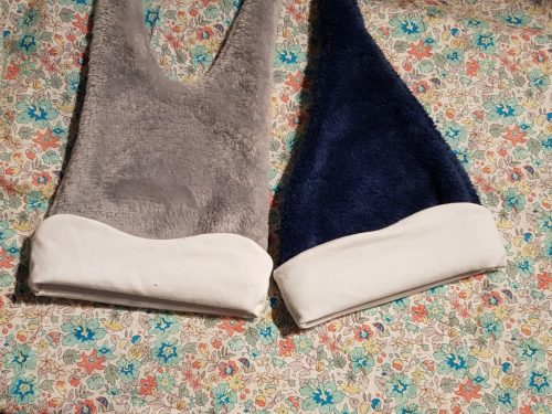 liberty fleurs orange bleu pour bonnet bébé personnalisé