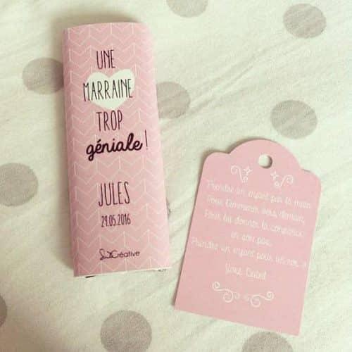 mini tablette chocolat personnalisée
